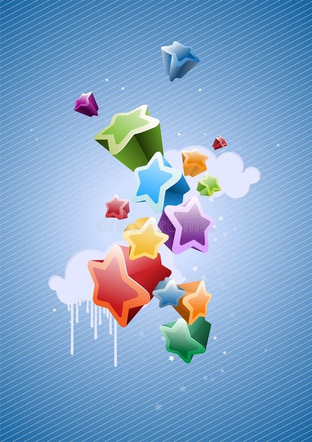 Fond coloré d'étoiles illustration libre de droits