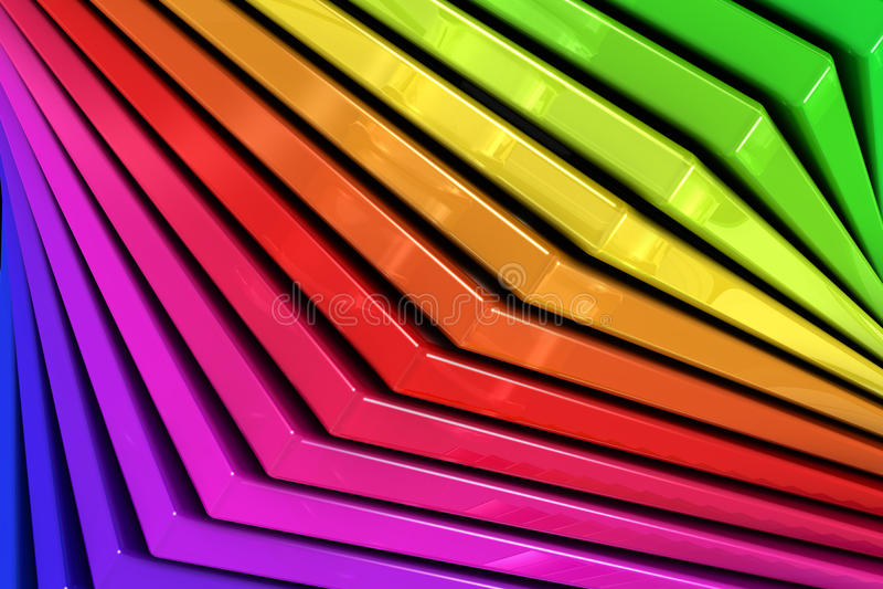 Fond coloré d'abrégé sur arc-en-ciel des avions en verre empilés illustration stock