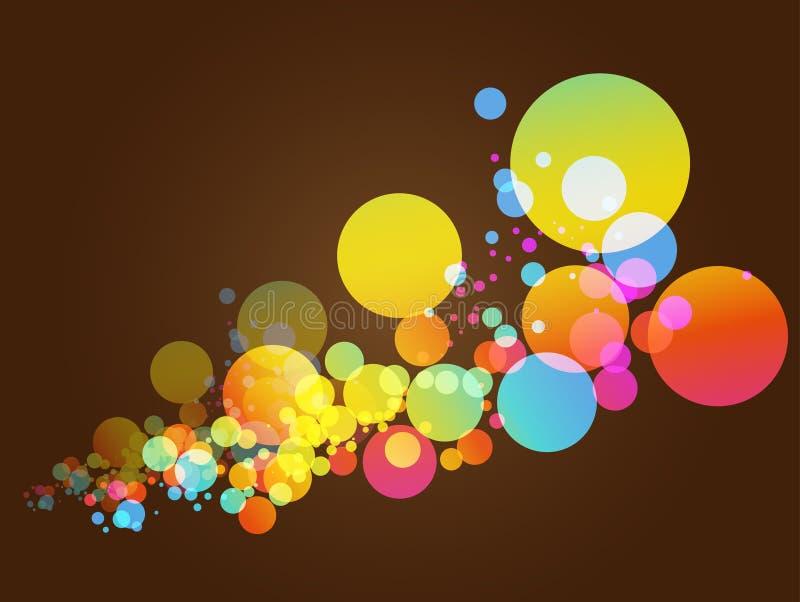 Fond coloré d'abrégé sur cercle illustration stock