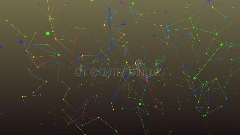 Fond coloré d'abrégé sur la géométrie photos libres de droits