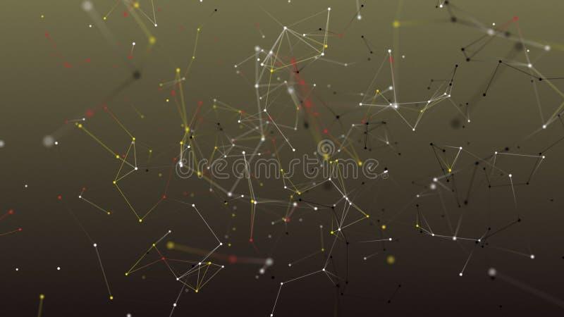 Fond coloré d'abrégé sur la géométrie image libre de droits