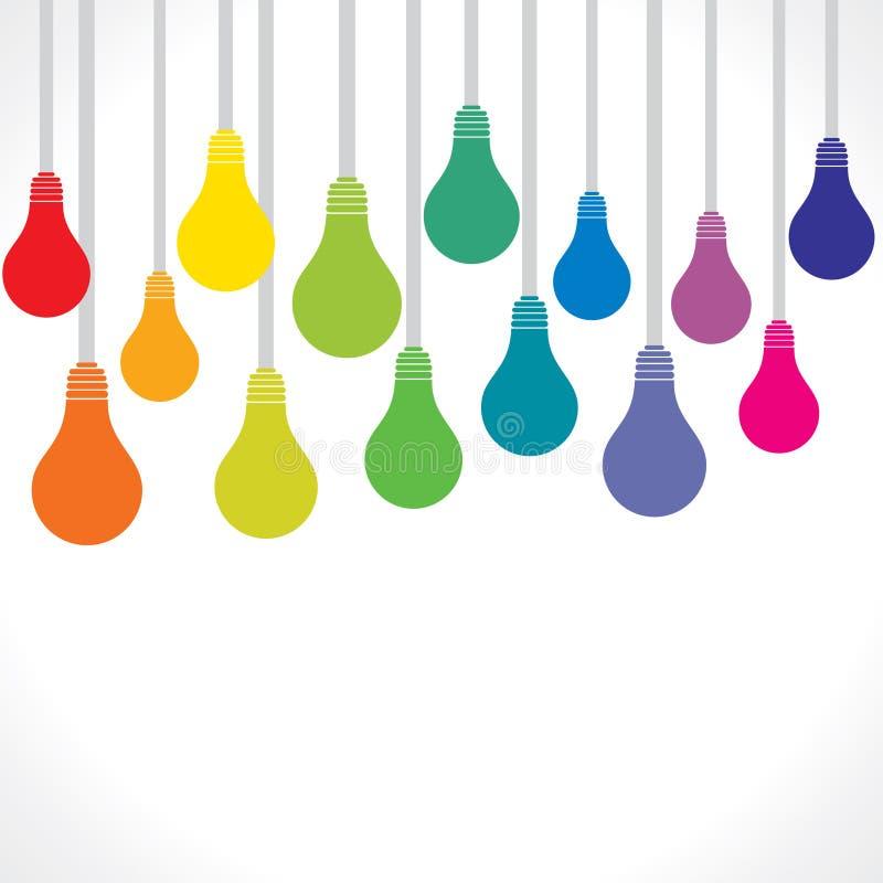 Fond coloré d'ampoule illustration de vecteur
