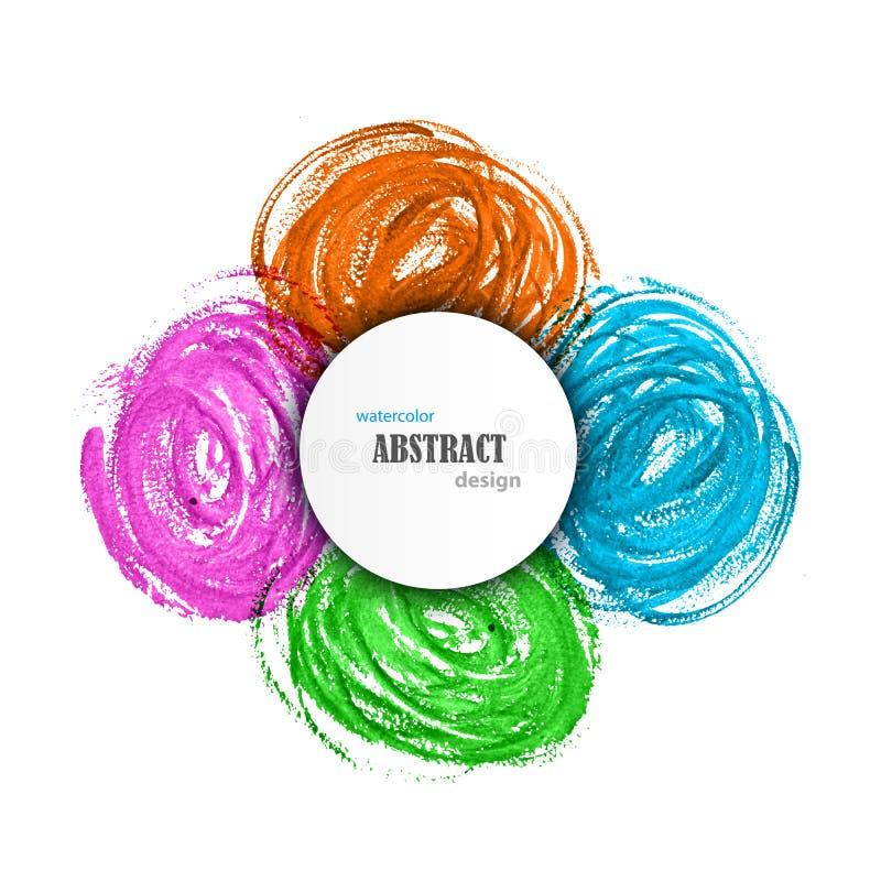 Fond coloré d'aquarelle abstraite illustration de vecteur