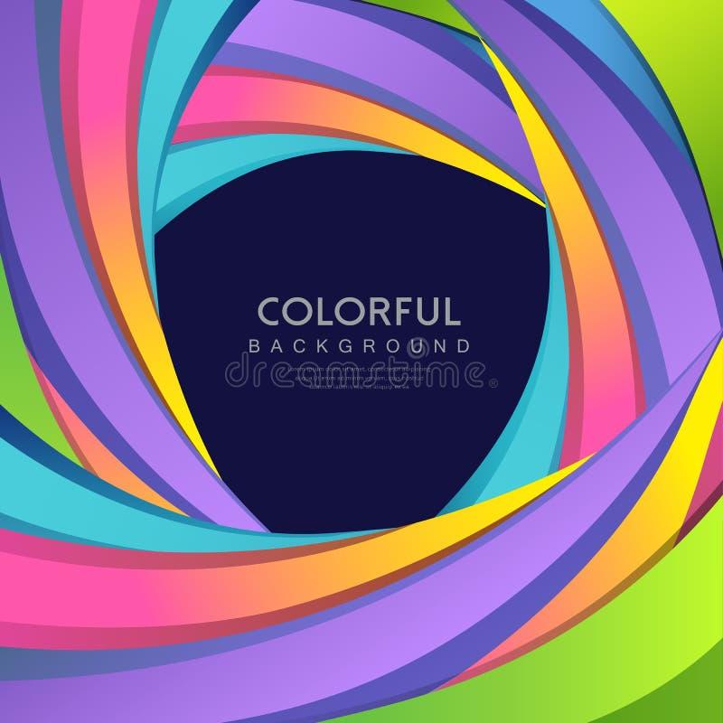 Fond coloré d'arc-en-ciel abstrait de courbe de vecteur illustration stock