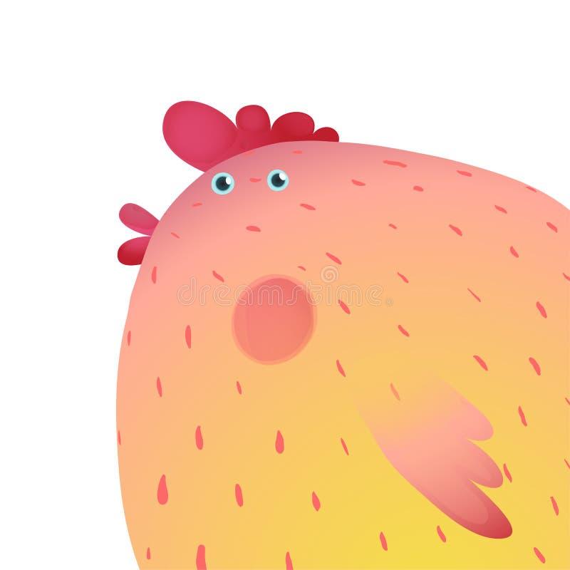 Fond coloré d'oiseau de poulet d'amusement illustration libre de droits