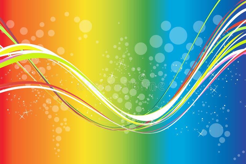 Fond coloré d'onde illustration de vecteur