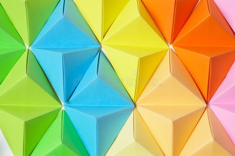 Fond coloré d'origami photo libre de droits