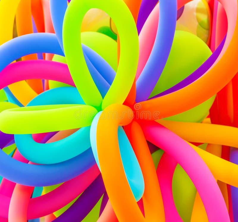 Fond coloré de ballons image stock
