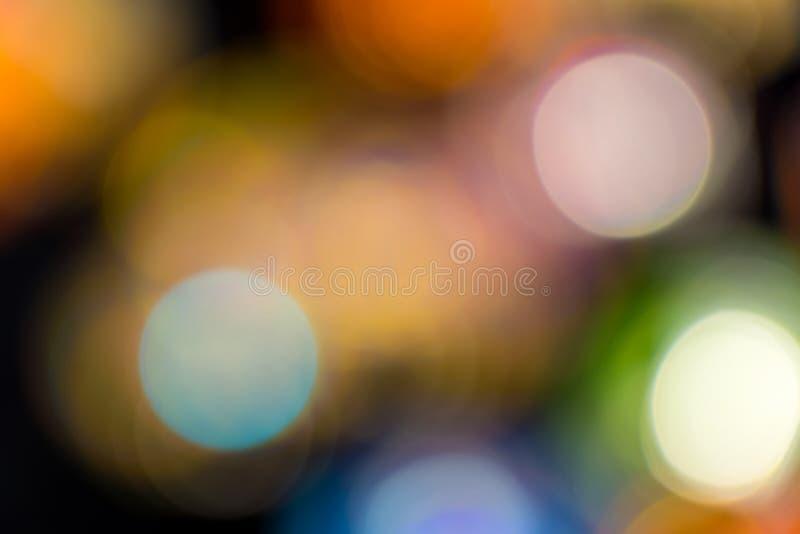 Fond coloré de Bokeh, tache floue, résumé images stock