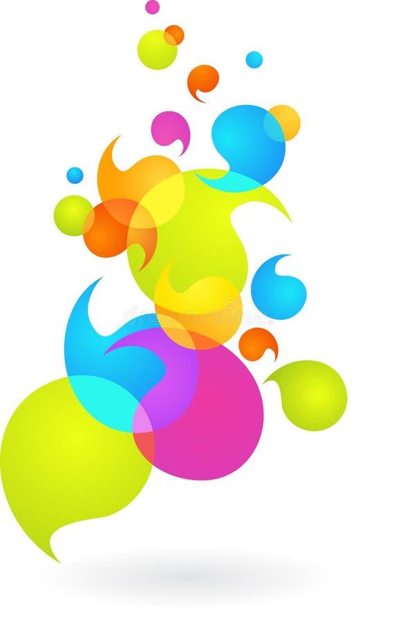 Fond coloré de bulle - 2 illustration libre de droits