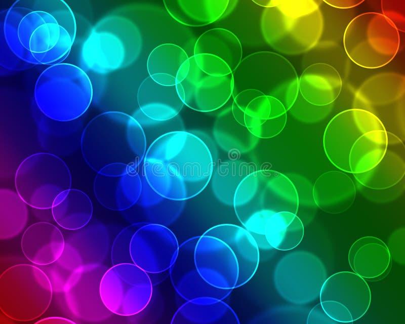 Fond coloré de bulles illustration libre de droits