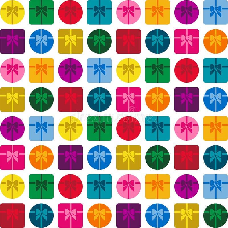 Fond coloré de cadeaux illustration libre de droits