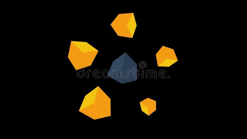 Fond coloré de cadres Boucle sans couture mobile de cubes colorés illustration de vecteur
