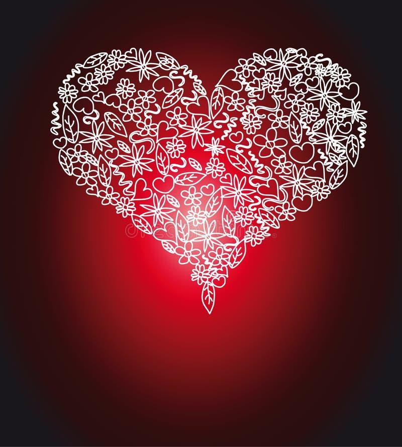 Fond coloré de carte du jour de Valentine illustration de vecteur