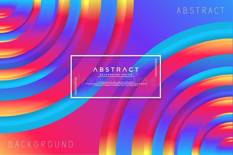 Fond coloré de cercle abstrait illustration stock