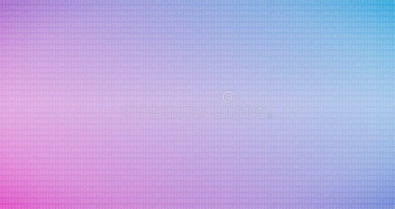 Fond coloré de code binaire avec des chiffres un et zéro sur l'écran photographie stock