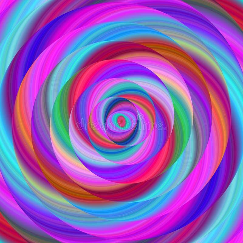Fond coloré de conception de spirale de fractale d'ellipse illustration libre de droits