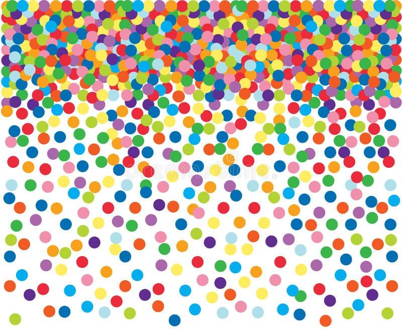 Fond coloré de confettis. illustration libre de droits