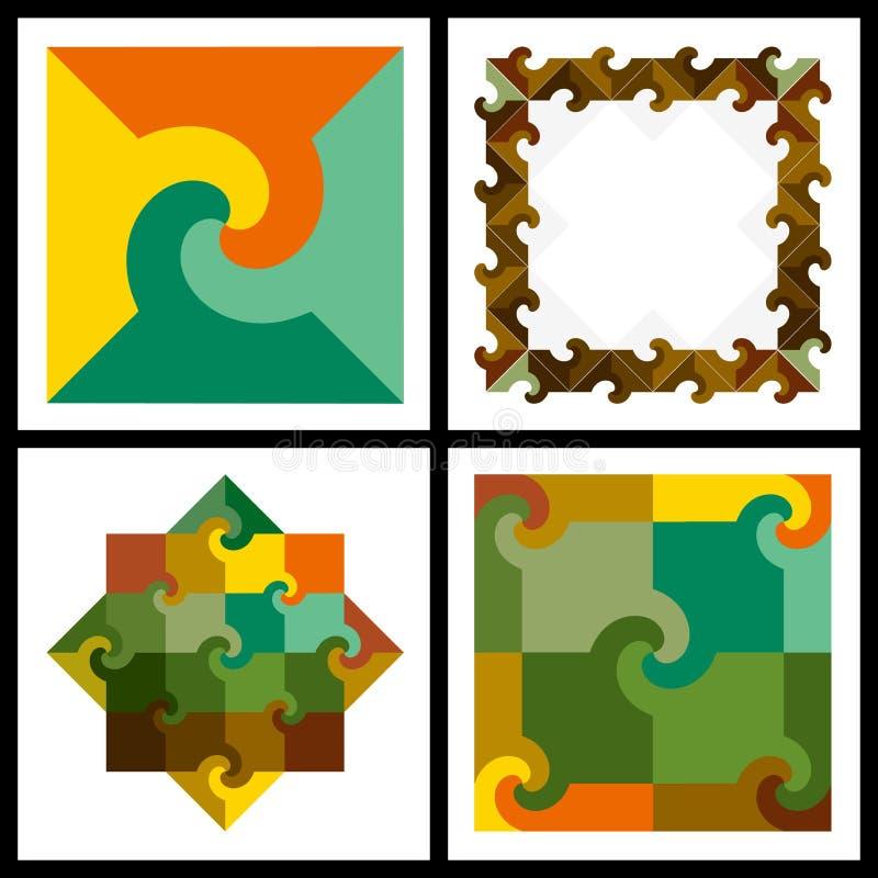Fond coloré de configuration (vecteur) illustration stock
