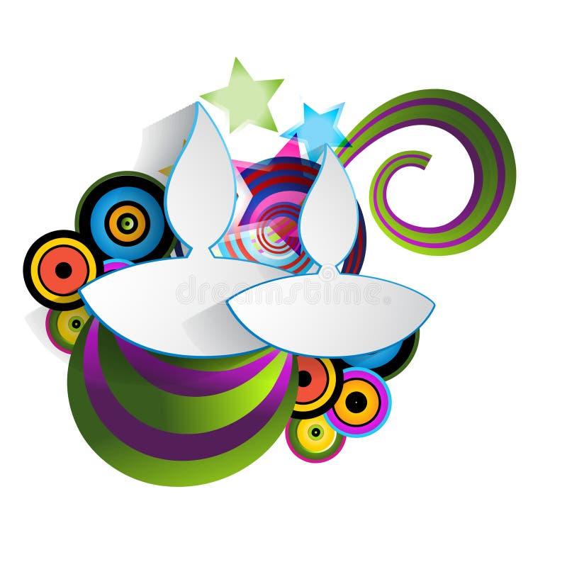 Fond coloré de diwali illustration stock