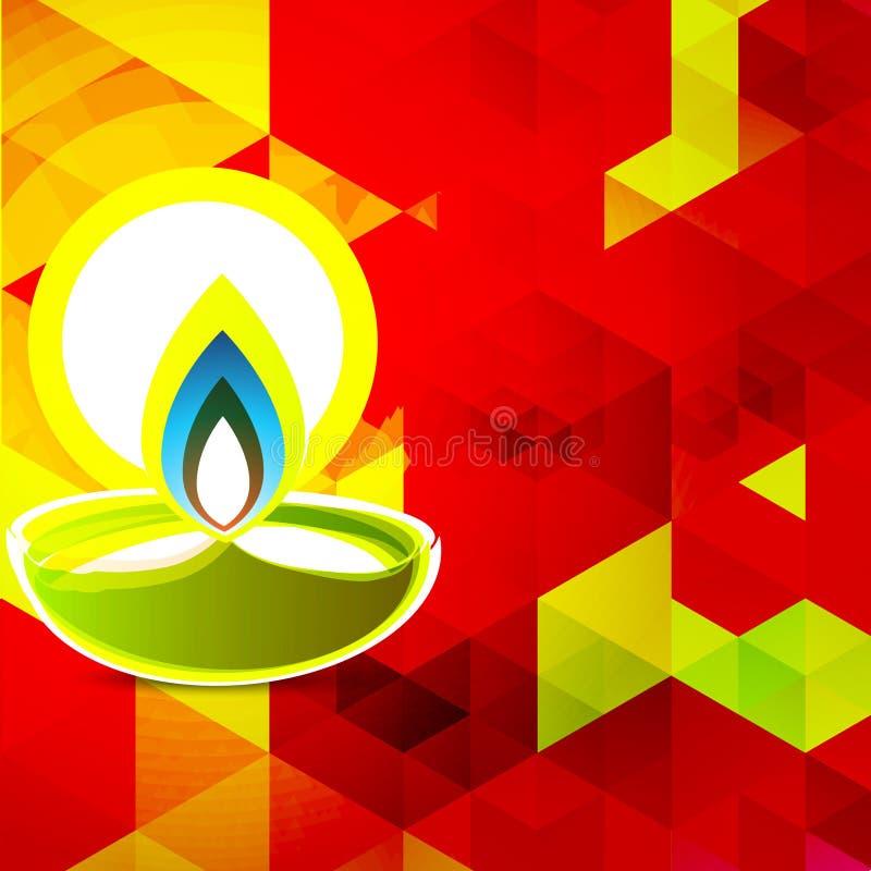 Fond coloré de diwali illustration de vecteur
