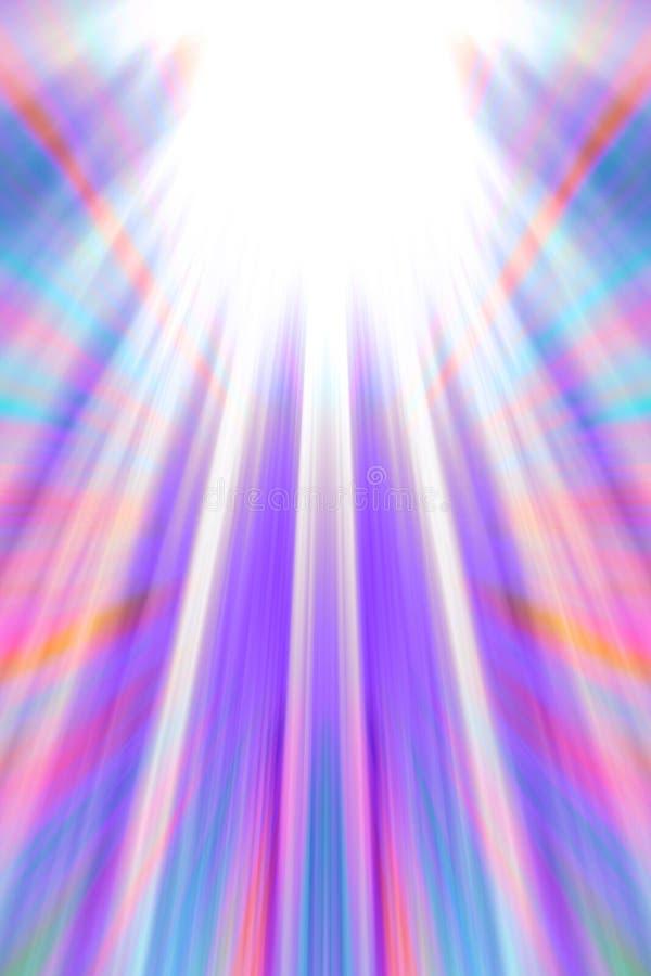 Fond coloré de faisceaux lumineux illustration de vecteur