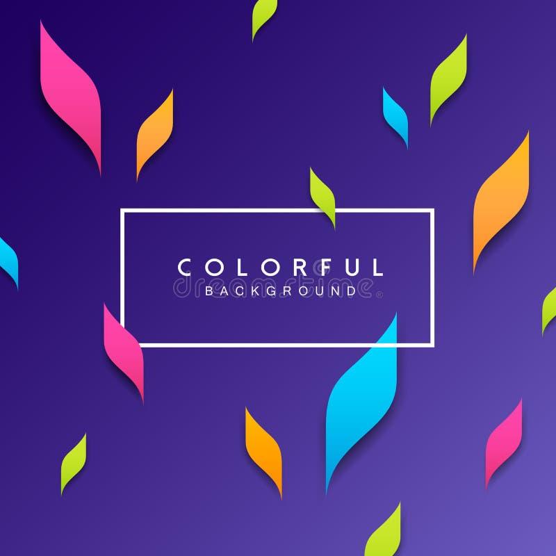 Fond coloré de feuille artistique abstraite illustration libre de droits