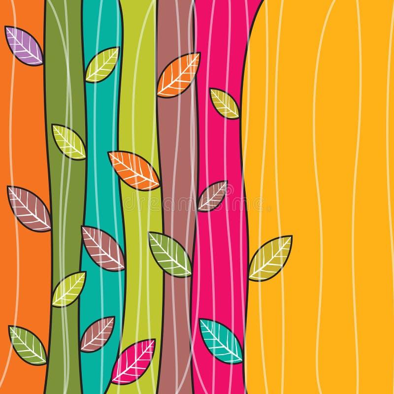 Fond coloré de feuilles d'automne de vecteur illustration stock