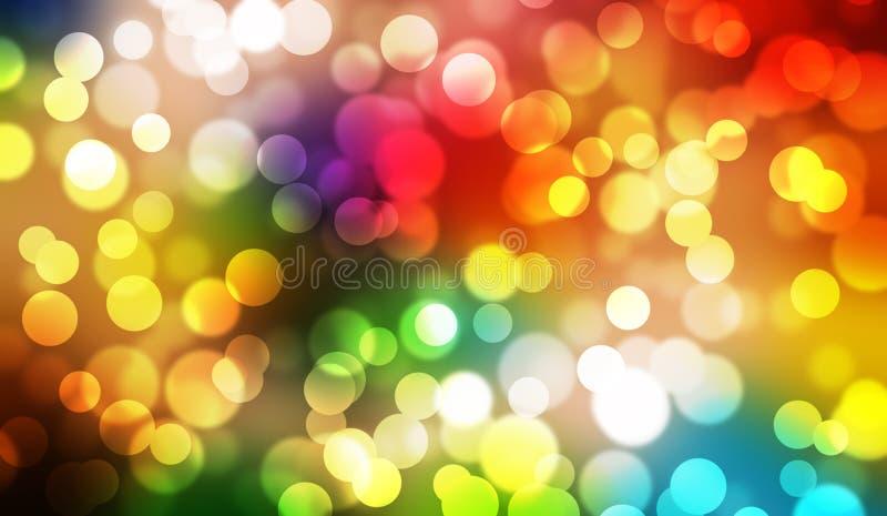 Fond coloré de graphique d'illustration d'abrégé sur bokeh photo stock
