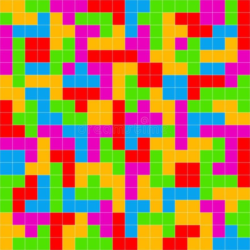 Fond coloré de jeu de Tetris illustration de vecteur