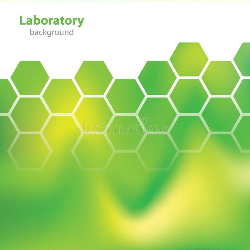 Fond coloré de la Science et de laboratoire de recherche - éléments chimiques illustration de vecteur