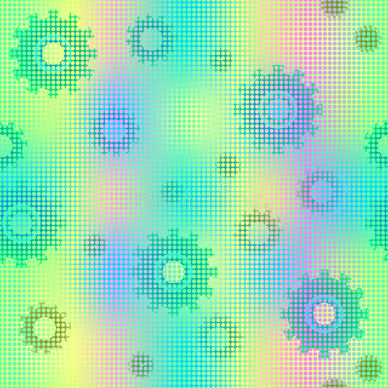 Fond coloré de mécanique sans couture illustration de vecteur