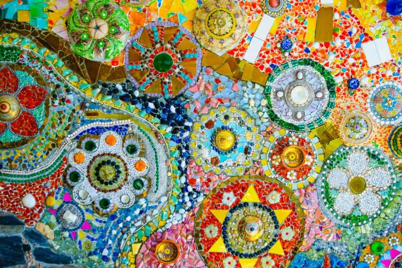 Fond coloré de modèle de mosaïque Fait à partir d'en céramique images stock