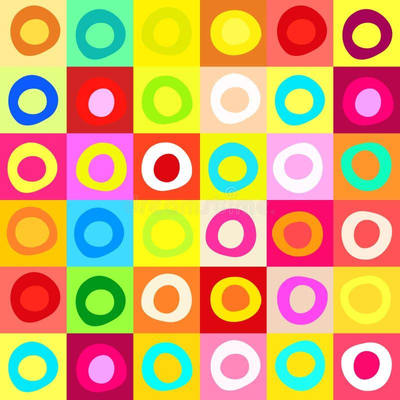 Fond coloré de mosaïque illustration stock
