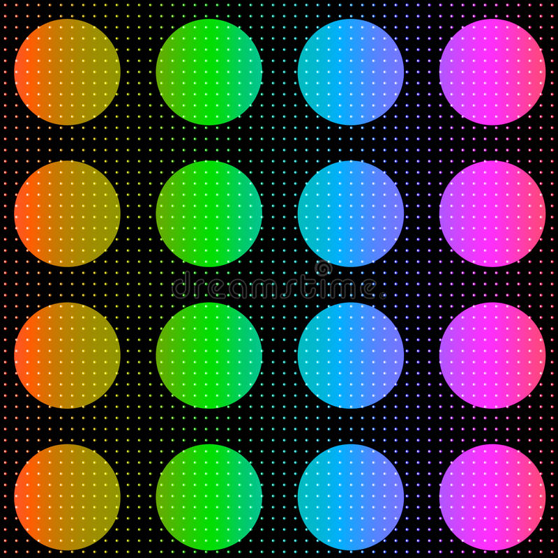 Fond coloré de points de polka photographie stock libre de droits