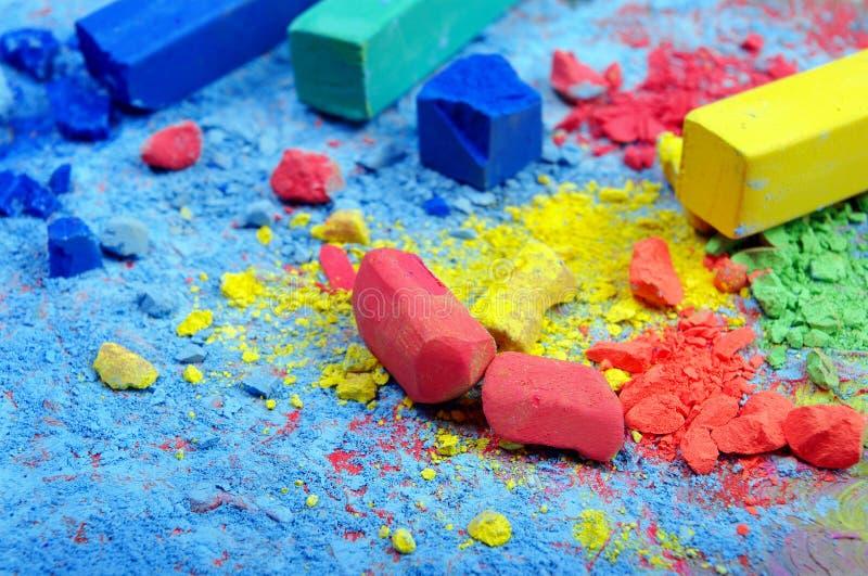 Fond coloré de poudre en pastel Fond abstrait coloré Couleurs d'arc-en-ciel images libres de droits