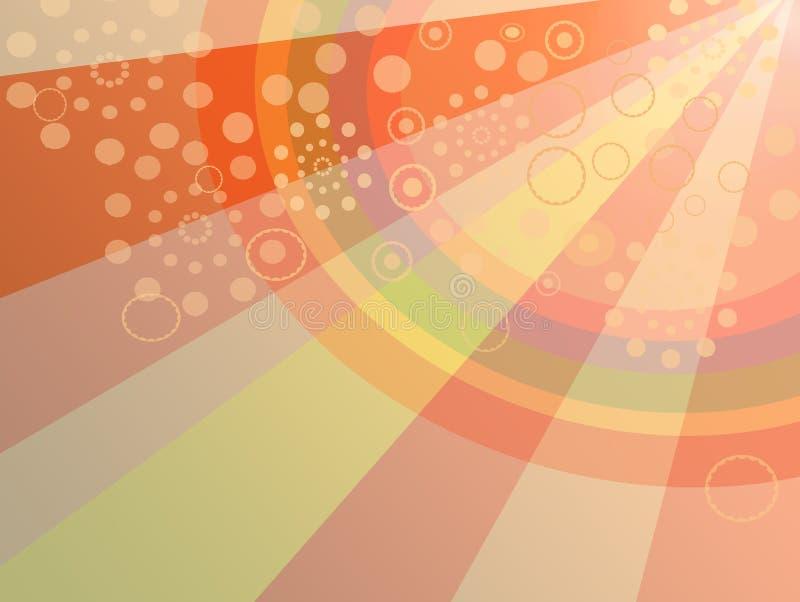 Fond coloré de réception illustration libre de droits