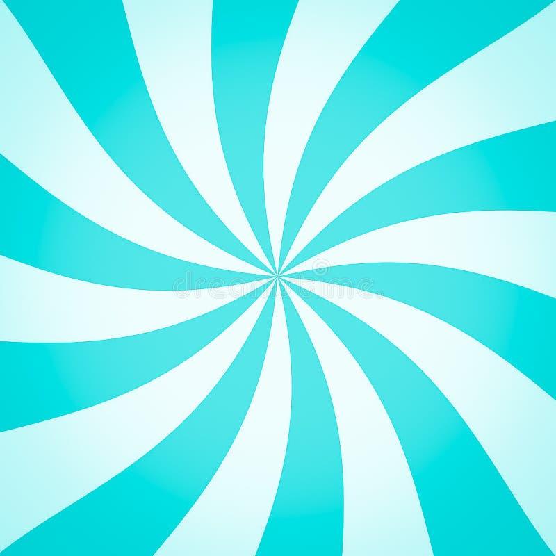 Fond coloré de rayon de vert bleu pour des RP de calibre et de bannière illustration libre de droits