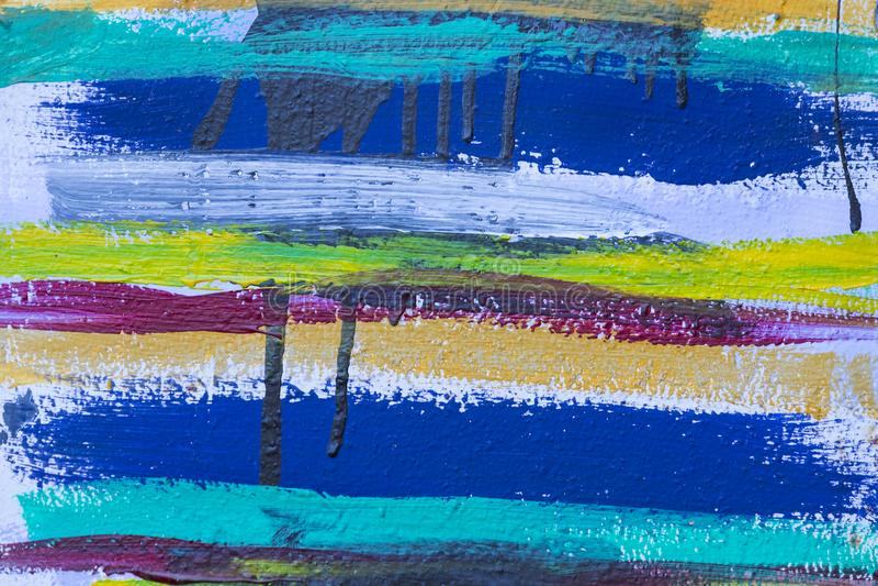 Fond coloré de rayures de peinture acrylique images libres de droits