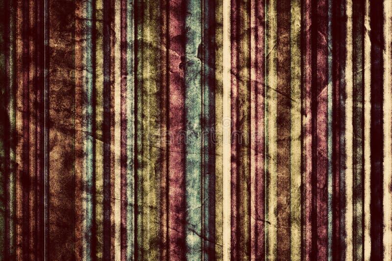 Fond coloré de rayures verticales dans le vintage, rétro style illustration stock