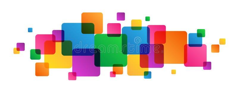 Fond coloré de recouvrement abstrait de places illustration de vecteur