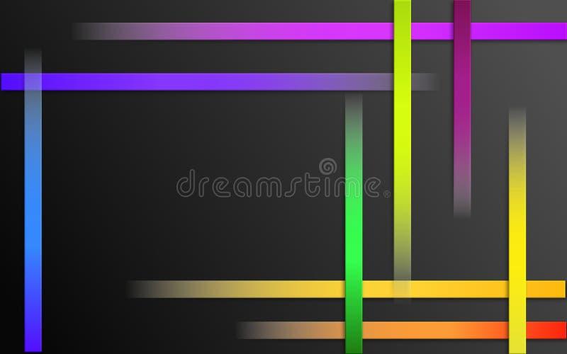 Fond coloré de recouvrement de rayures - papier peint simple abstrait de mosaïque de modèle de barres illustration libre de droits
