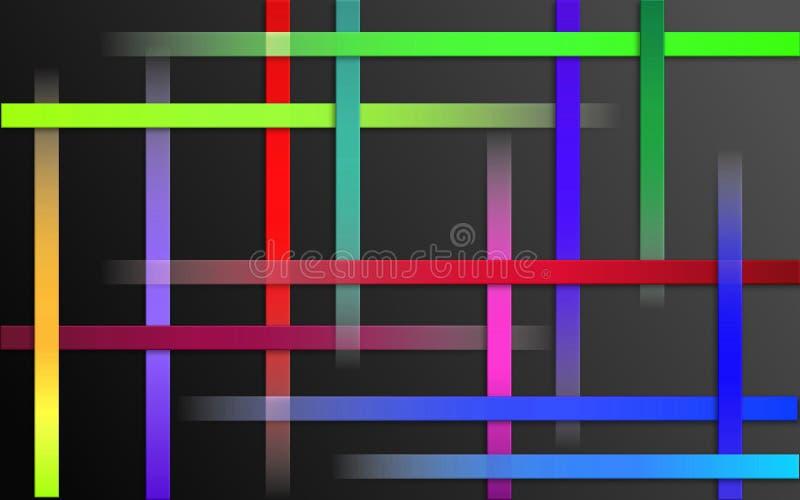 Fond coloré de recouvrement de rayures - papier peint simple abstrait de mosaïque de modèle de barres illustration de vecteur