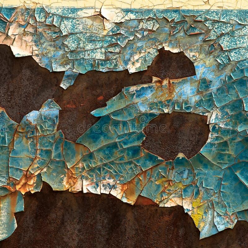 Fond coloré de rouille en métal photo libre de droits