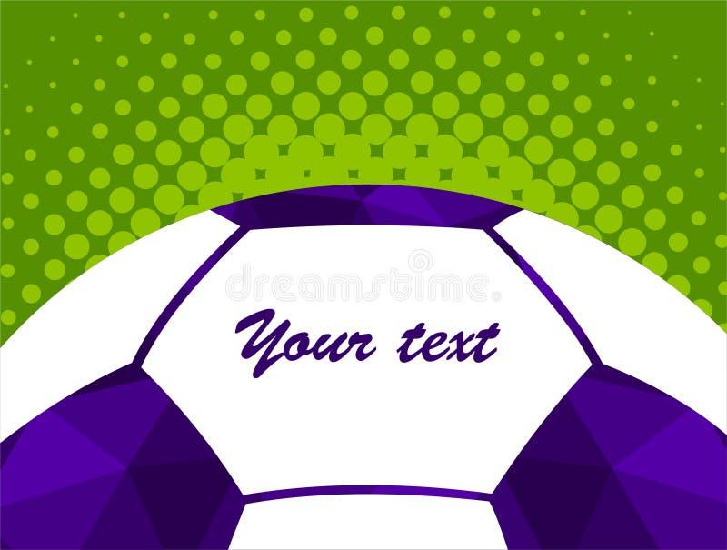 Fond coloré de silhouette de ballon de football de joueur de football Affiche coloful de carte de bannière de conception d'illust illustration stock