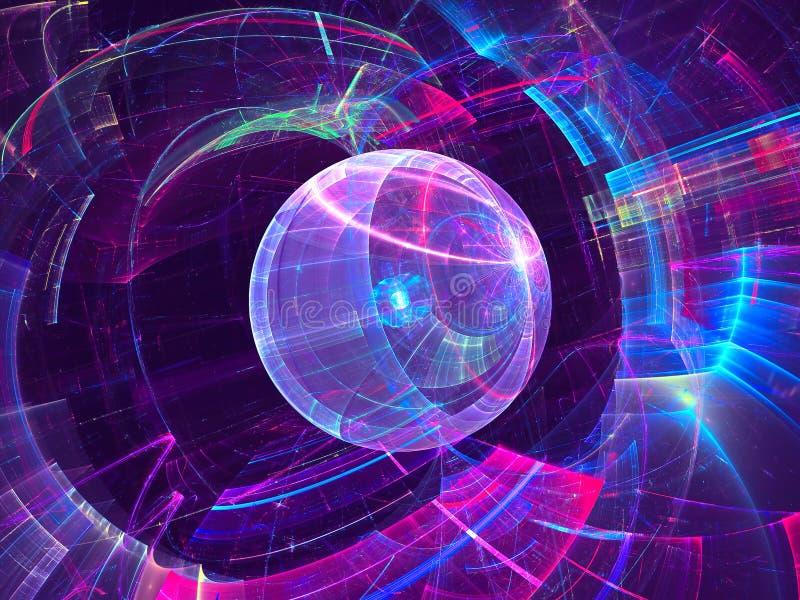 Fond coloré de technologie - le résumé a digitalement produit d'im illustration de vecteur