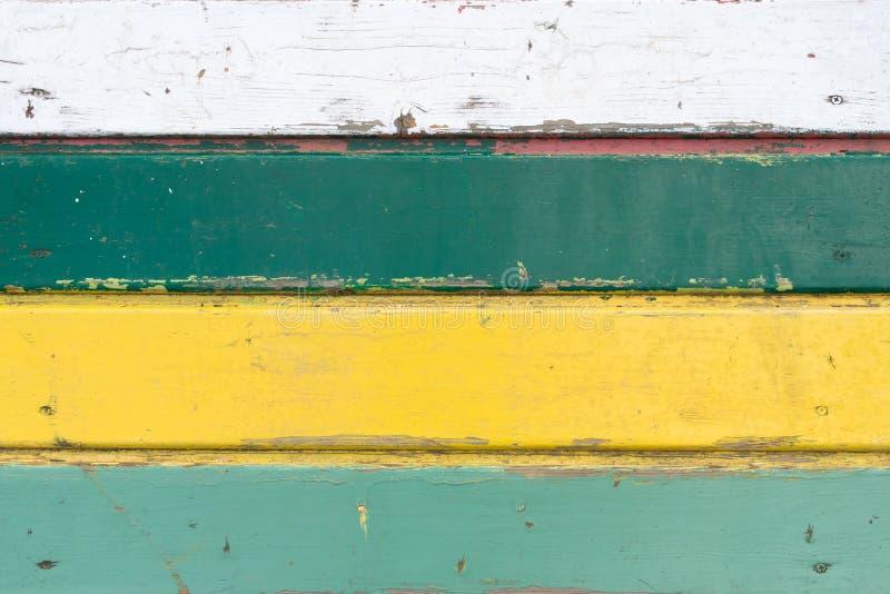 Fond coloré de texture de panneau en bois de vintage image stock