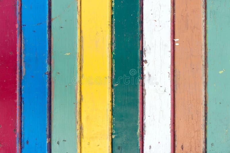 Fond coloré de texture de panneau en bois de vintage photographie stock libre de droits