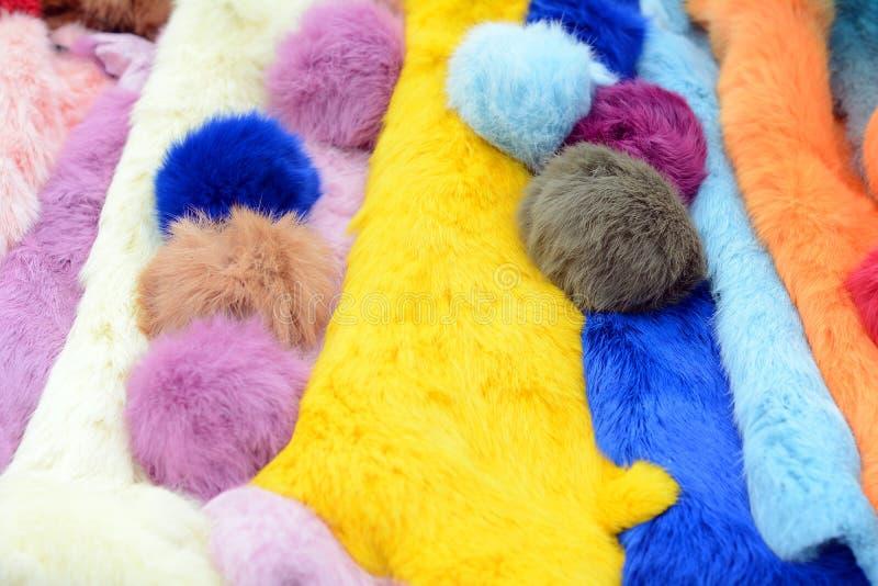 Fond coloré de texture de fourrures photographie stock libre de droits