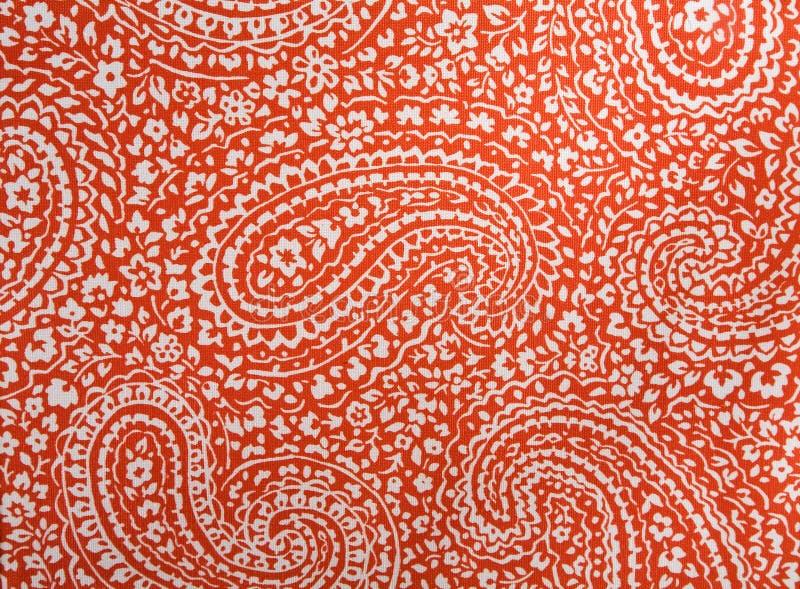 Fond coloré de tissu de coton de Paisley photos libres de droits